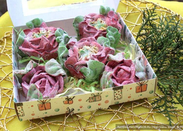 Вишнёвый зефир «Цветы» – пошаговый кулинарный рецепт с фото