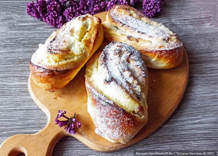 Булочки с творожной начинкой – пошаговый кулинарный рецепт с фото