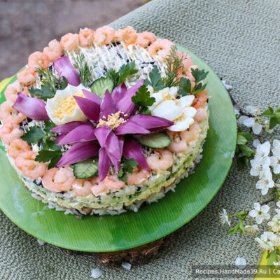 Салат с креветками и огурцом – пошаговый кулинарный рецепт с фото