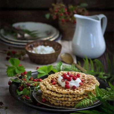 Гречневые вафли – пошаговый кулинарный рецепт с фото