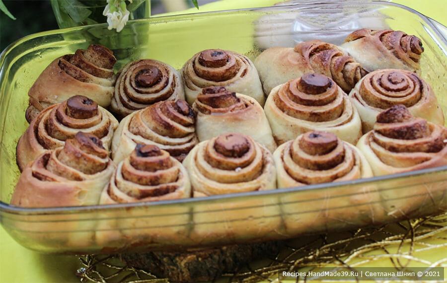 Булочки Синнабон – фото шаг 10. Выпекать синнабоны 25 минут в духовке, предварительно разогретой до температуры 180 °C