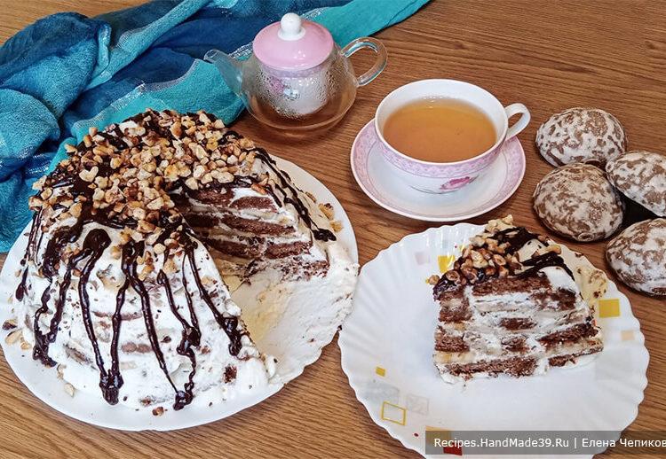 Торт из пряников и бананов – пошаговый кулинарный рецепт с фото