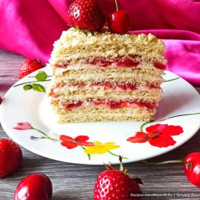 Творожный торт с заварным кремом – пошаговый кулинарный рецепт с фото