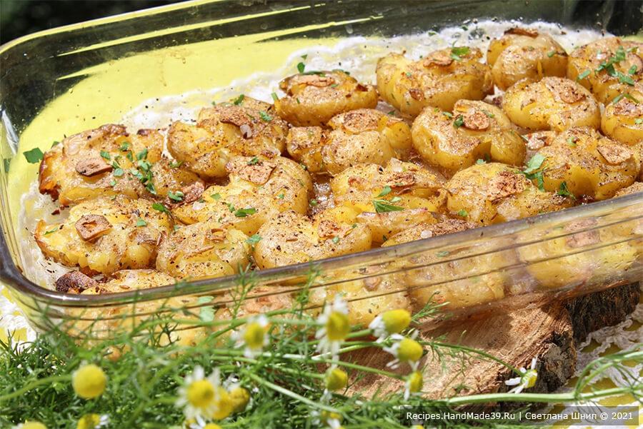 Картофель по-португальски – фото шаг 7. Запекать картофель 15-20 минут в духовке, предварительно разогретой до температуры 200 ° C, до образования румяной корочки. Приятного аппетита!