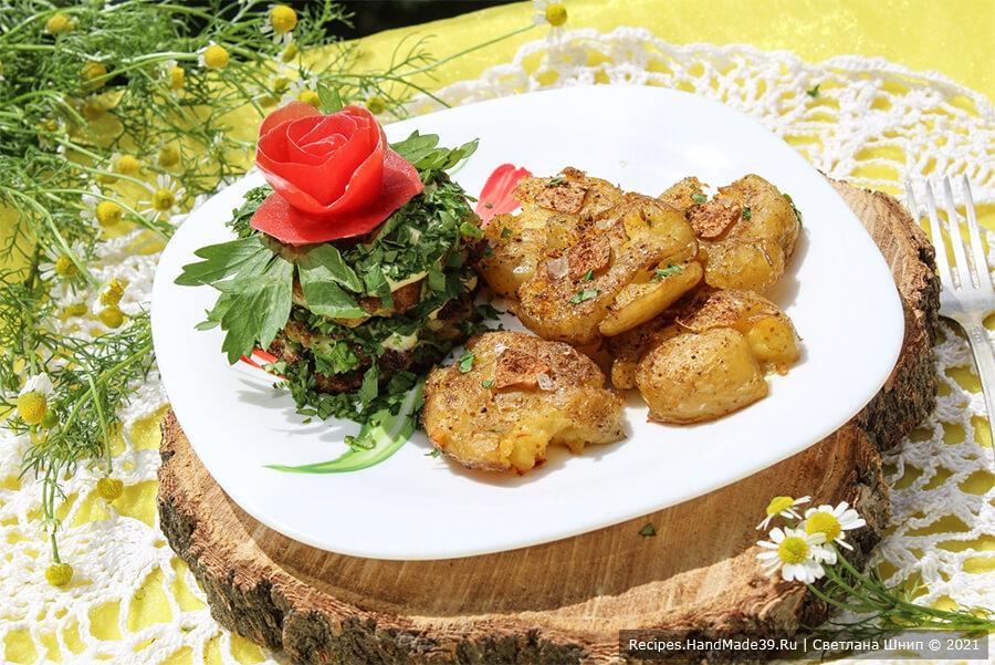Давленый запечённый картофель по-португальски