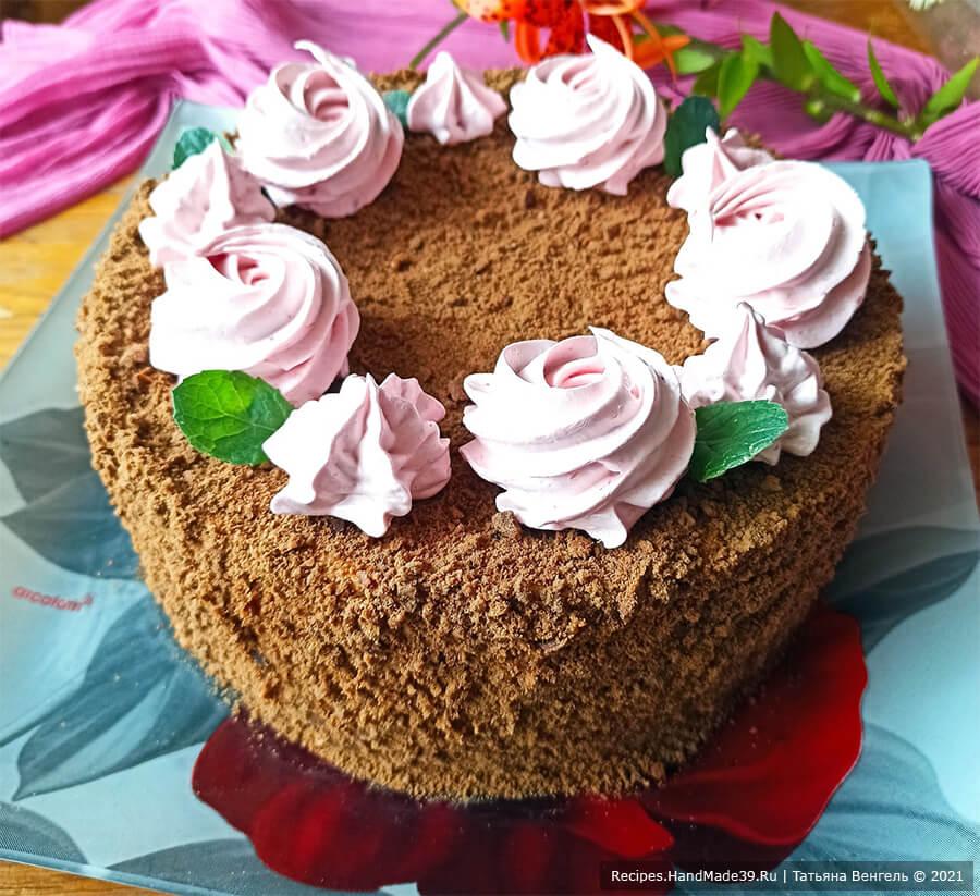 Торт медовик шоколадный на сковороде