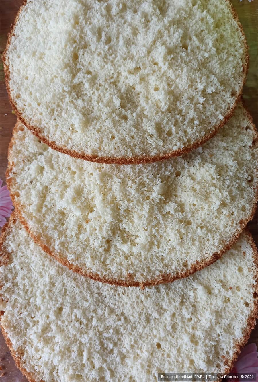 Торт «А-ля тирамису» – фото шаг 7. Остудить бисквит, дать отлежаться несколько часов