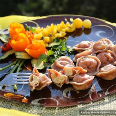 Свекольные пельмени – пошаговый кулинарный рецепт с фото