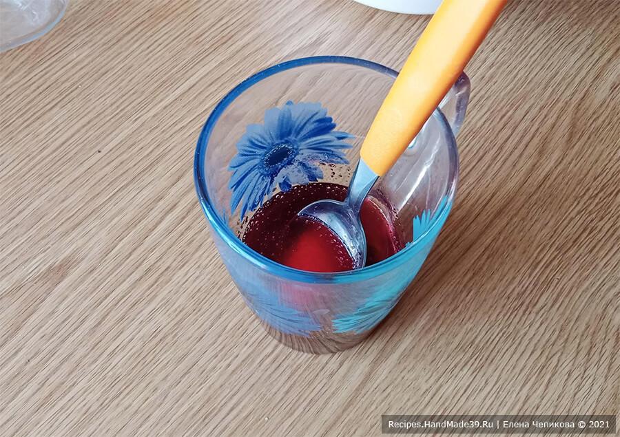 Пирожное «Кранчин-Манчин» – фото шаг 7. Желатин залить холодным соком или водой