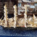 Фигура из марципана – барк «Крузенштерн»