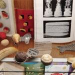 Фигурки из марципана – фрукты, рыбка