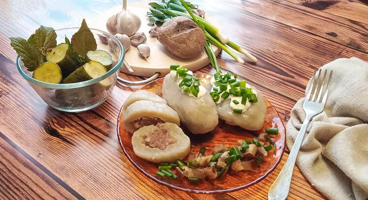 Цеппелины – картофельные клёцки