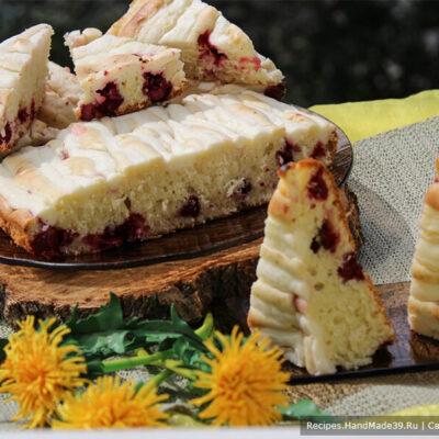 Пирог с творожным кремом – пошаговый кулинарный рецепт с фото