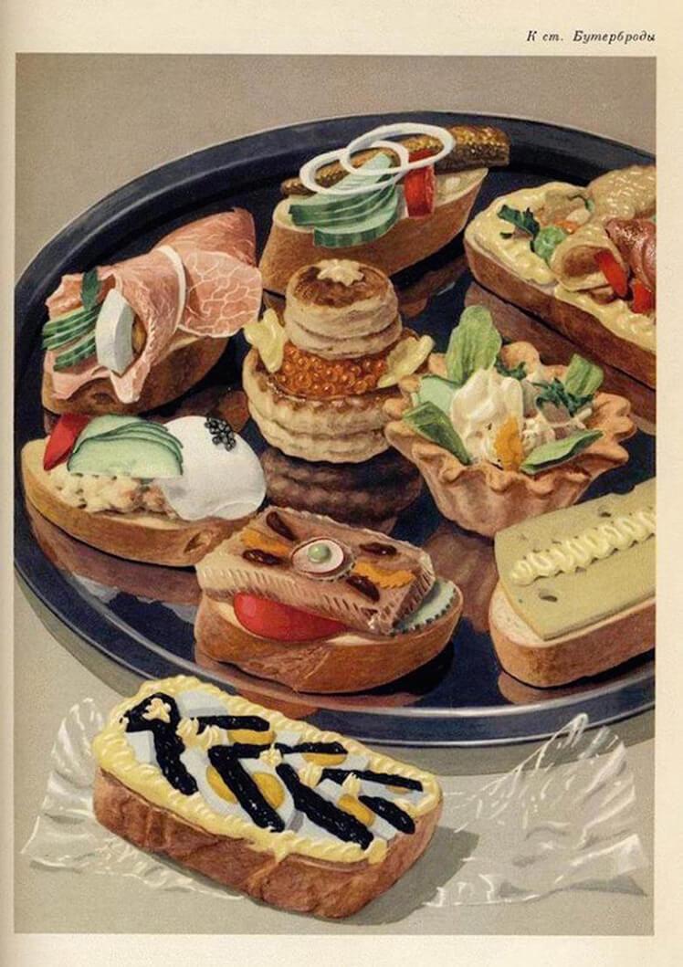 История бутерброда в России