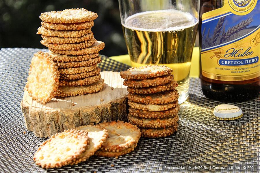 Печенье с горчицей и сыром