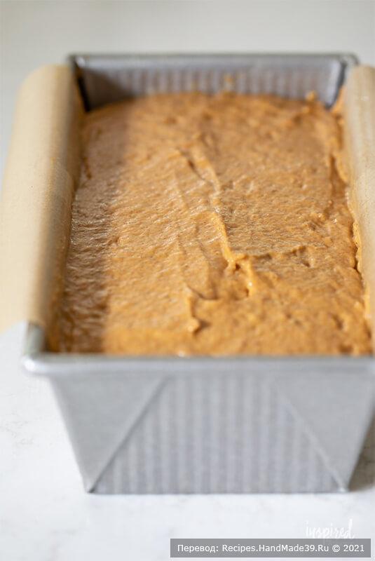 Тыквенный хлеб с начинкой – фото шаг 6. Сверху выложить оставшееся тесто, разровнять поверхность