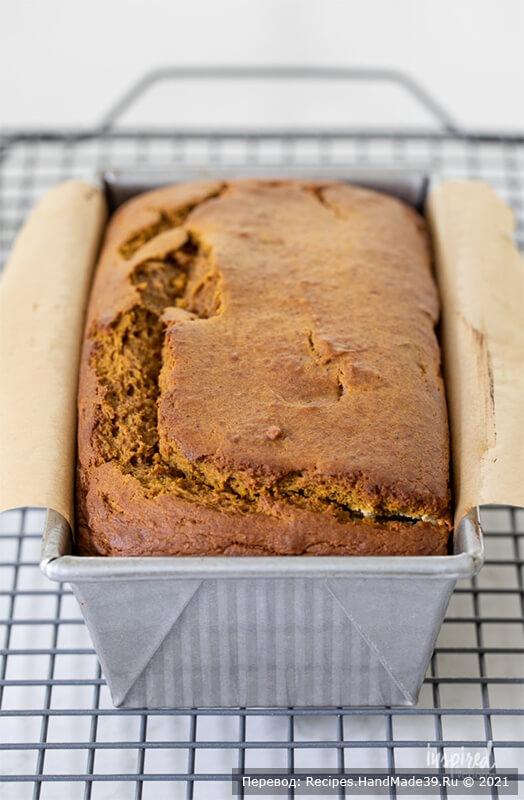 Тыквенный хлеб с начинкой – фото шаг 7. Выпекать хлеб 60-65 минут