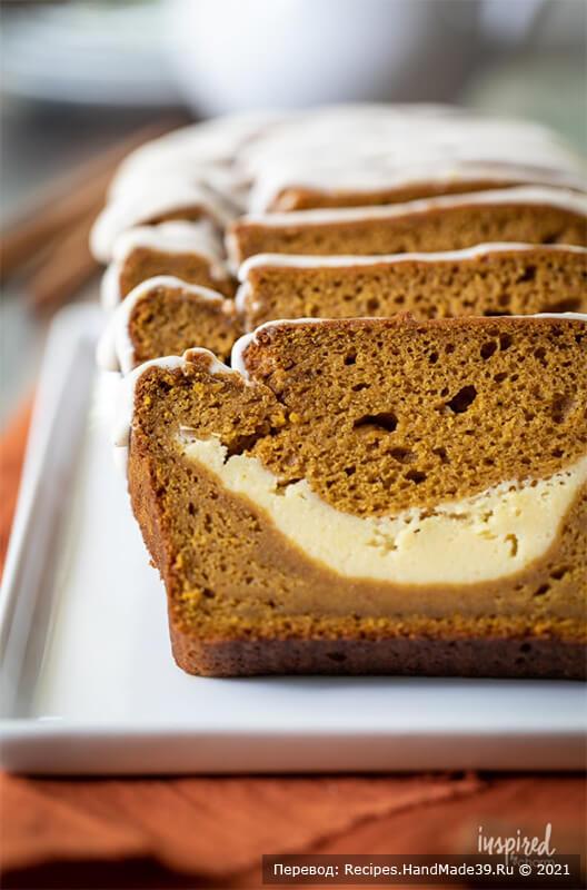 Тыквенный хлеб с начинкой – фото шаг 9. Для подачи тыквенный хлеб нарезать порционными ломтиками. Приятного аппетита!