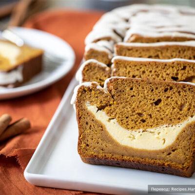 Тыквенный хлеб со сливочно-сырной начинкой