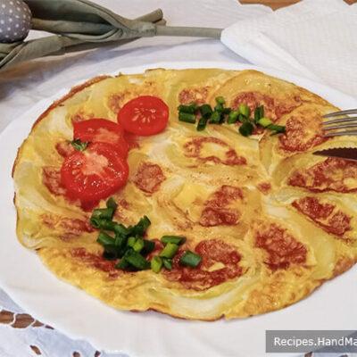 Омлет с кабачками – пошаговый кулинарный рецепт с фото